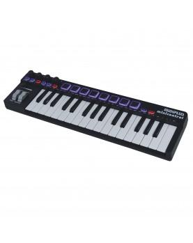 MiDiPLUS minicontrol 32 keys mini size USB MIDI Keyboard Controller with  Drum Pads